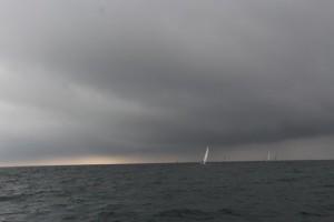 Die Regenfront näher sich